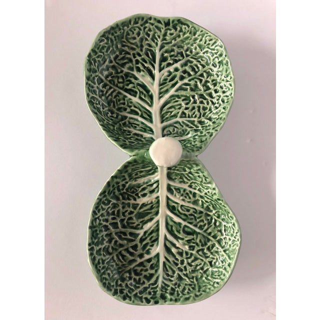 Vintage Bordallo Pinheiro Cabbage Serving Dish For Sale - Image 4 of 11