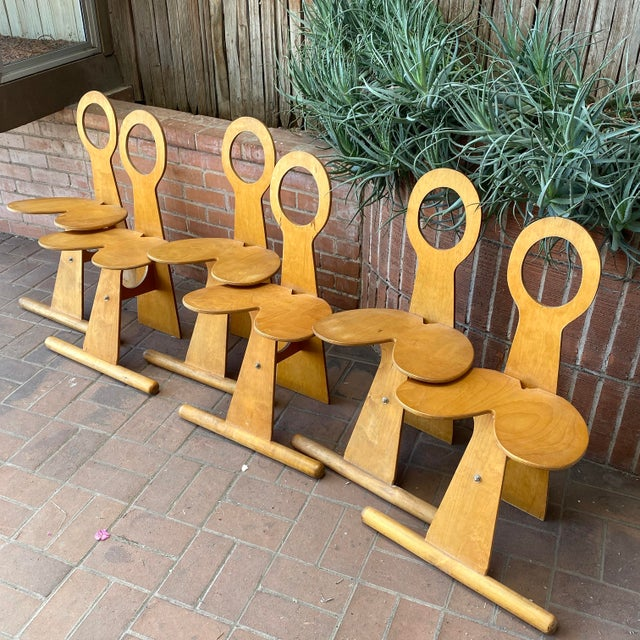 Max Gottschalk Fanny Chairs circa 1970s, Set of 6 Overall these are in good vintage condition Of the six chairs, four have...