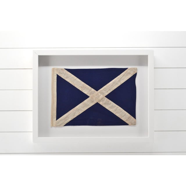 Wonderful real hand made signal flag in the USA. Custom framed in a all wood shadow box frame with UV acrylic not glass....