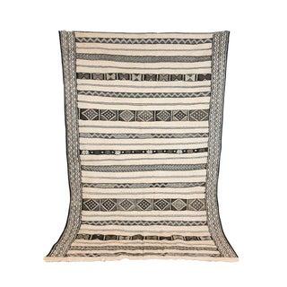 Vintage Moroccan Neutral Kilim Rug For Sale