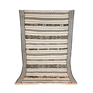 Vintage Moroccan Neutral Kilim Rug