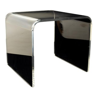 Mid Century Lucite Waterfall Side End Table For Sale
