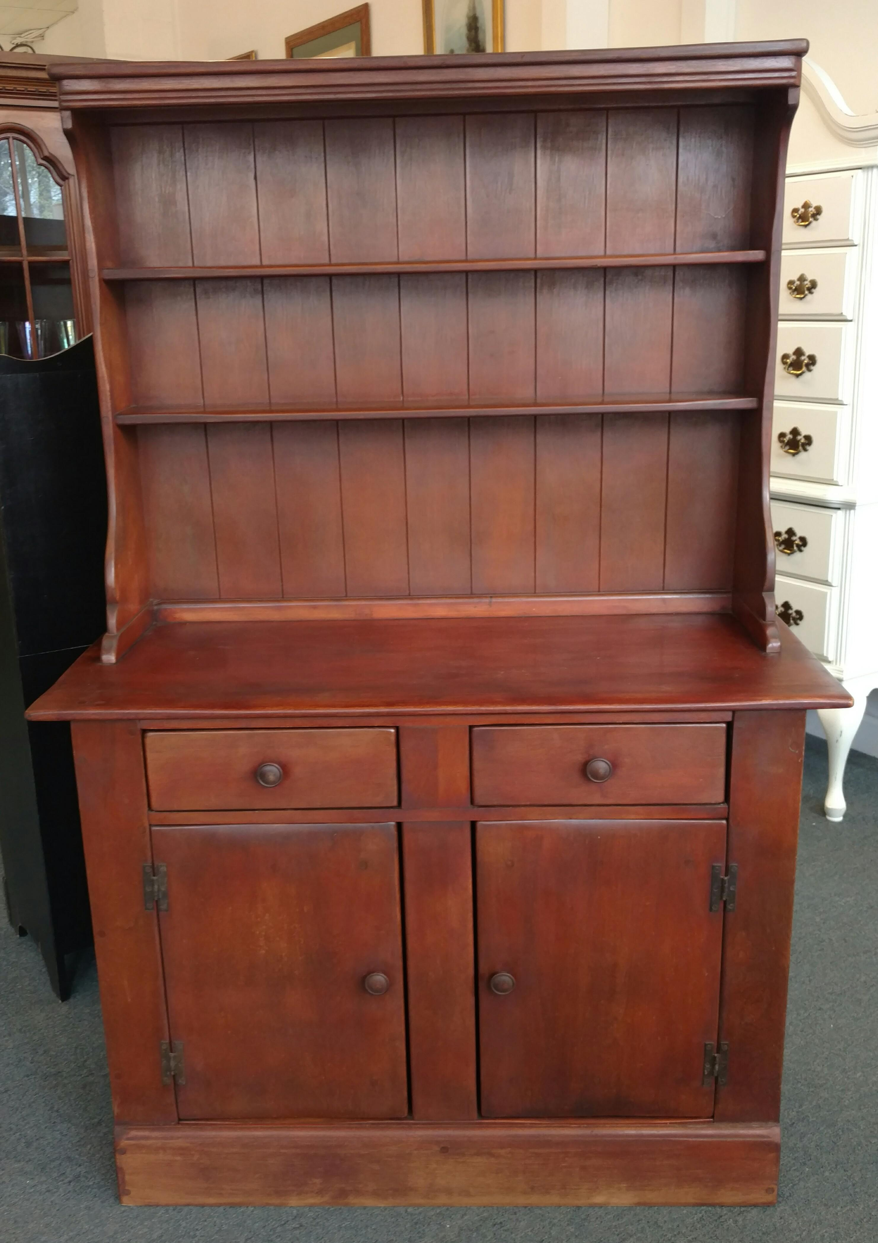 Beau Charming Country Maple Hutch By Priscilla Colonial Furniture Company.  Spacious Two Door Cabinet And Two