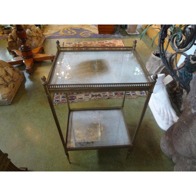 Metal 1940's French Maison Bagues Attributed Bronze Table For Sale - Image 7 of 13