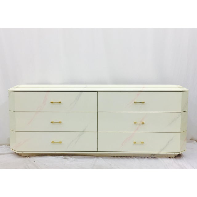 Vintage Modern Dresser made by Elkins Industries (USA). Six Drawers, all of which are deep and move smoothly on their...