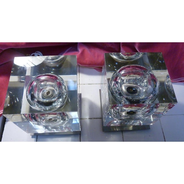 1970's Vintage Robert Rigot- P Baccarat Cube Lamps- A Pair For Sale In Miami - Image 6 of 10