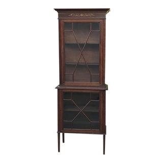19th Century English Mahogany Cabinet For Sale