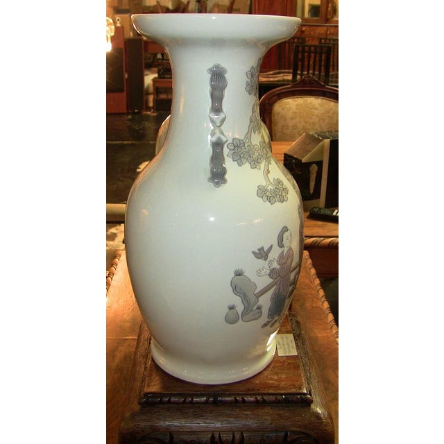 Asian Lladro Retired Mandarin Vases - Very Rare- A Pair For Sale - Image 3 of 12