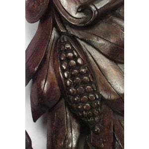 19th c. Wall Mirror Carved with American Iconography For Sale - Image 4 of 8