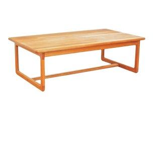 1970s Korup Stolefabrik Danish Modern Solid Teak Coffee Table For Sale