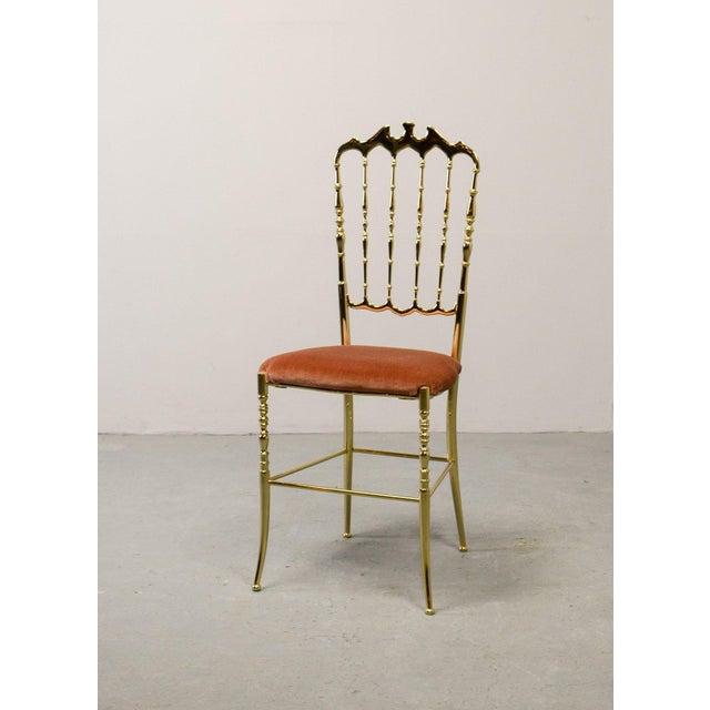Mid-Century Italian Design Side Chair by Giuseppe Gaetano Descalzi for Chiavari, Italy, 1950s For Sale - Image 11 of 11