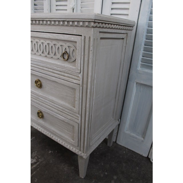Gold 20th Century Swedish Gustavian Style Nightstands - A Pair For Sale - Image 8 of 12