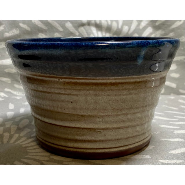 American 1990s Vintage Clement Clayworks Drip Glaze Pottery Bowl For Sale - Image 3 of 6
