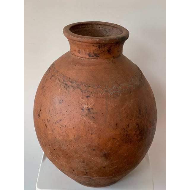 French Country 17th Century Spanish Red Terracotta Vessel, Vase, Planter With Low Tap For Sale - Image 3 of 13
