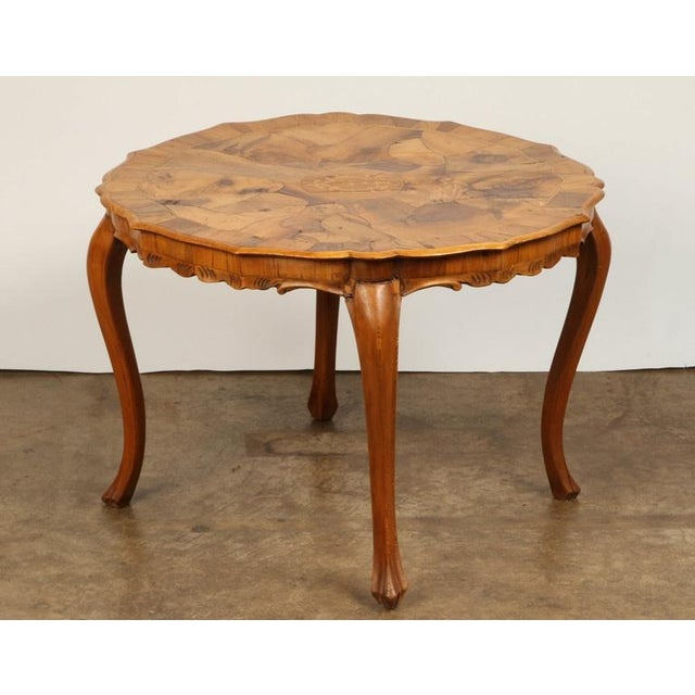 Walnut Danish Walnut Inlaid Side Table For Sale - Image 7 of 8