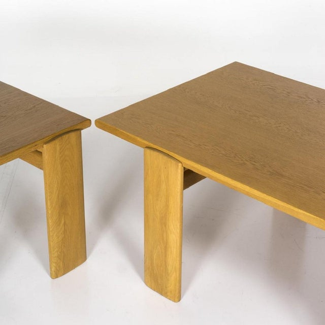 20th Century Scandinavian Oak Coffee and Side Table - 2 Pieces For Sale - Image 4 of 6