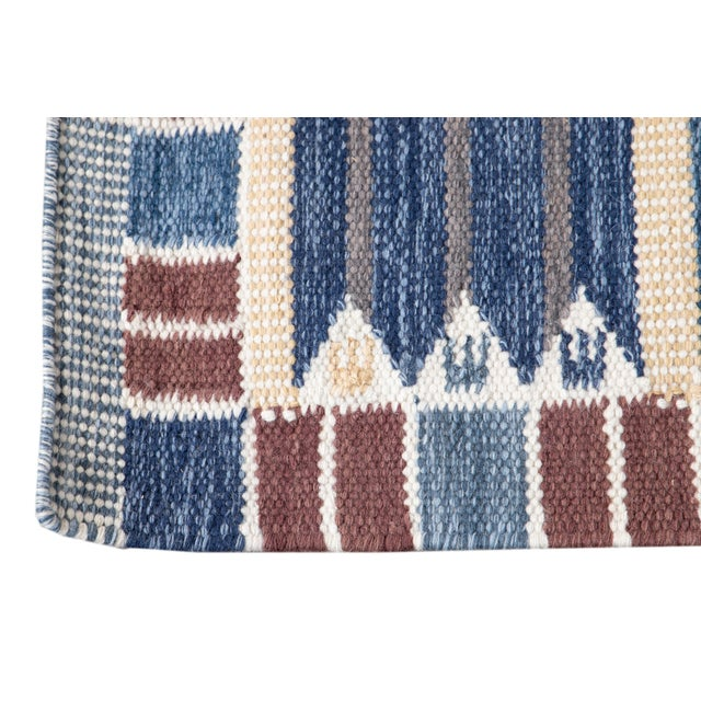 21st Century Modern Swedish Style Wool Runner Rug For Sale - Image 9 of 13