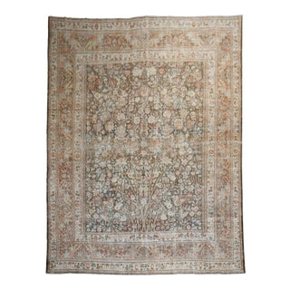 19th Century Antique Tree Motif Rug, 9'10'' X 14'4'' For Sale