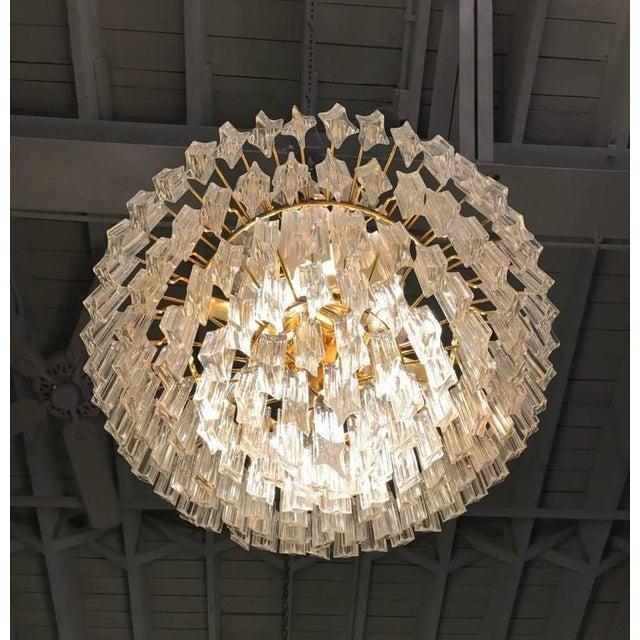 Circa 1970 Camer Mid-Century Italian Murano Glass Chandelier For Sale - Image 9 of 10