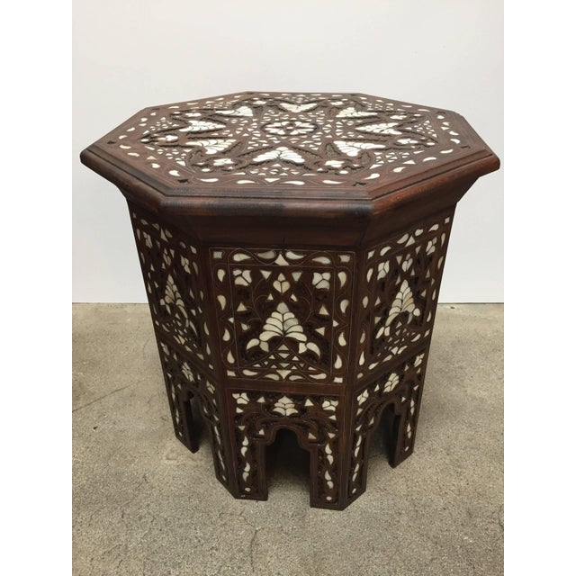 Syrian Mother-Of-Pearl Inlaid Side Table For Sale - Image 13 of 13
