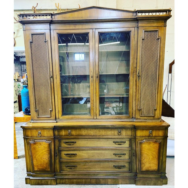 Thomasville Neoclassical Wood China Display Cabinet For Sale - Image 13 of 13