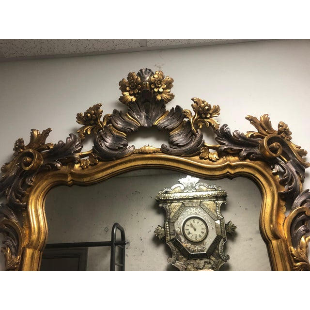 Italian Carved Gold Gilt Mirror For Sale - Image 3 of 10