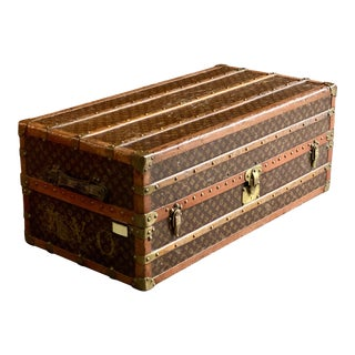 Louis Vuitton Steamer Trunk Wardrobe Trunk Chest France, circa 1920 For Sale