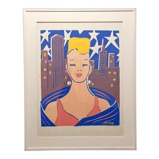"""T.K. Stephens """"Debutante"""" Silkscreen For Sale"""