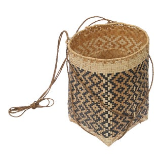 Late 20th Century Woven Grass Hanging Planter For Sale