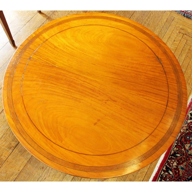 English English Satinwood Center Table For Sale - Image 3 of 7