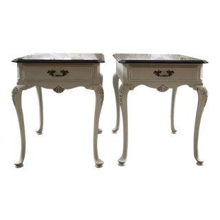 20th Century Queen Anne Lexington End Tables - a Pair For Sale