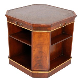 1950's Rotating Bookcase Table