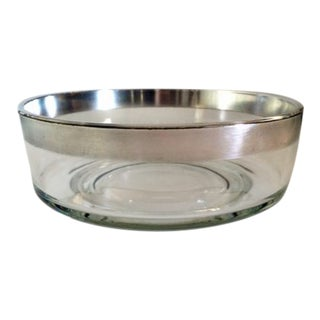 Mid-Century Modern Dorothy Thorpe Silver-Rimmed Serving Bowl