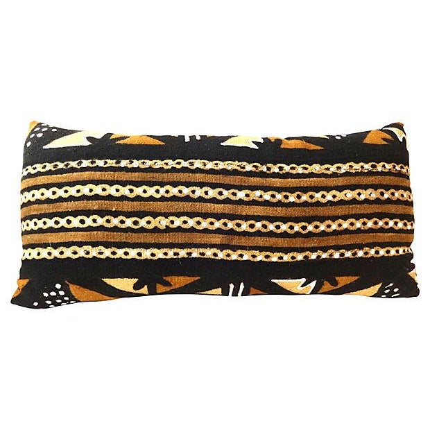 African Mud Cloth Large Long Pillow - Image 4 of 6