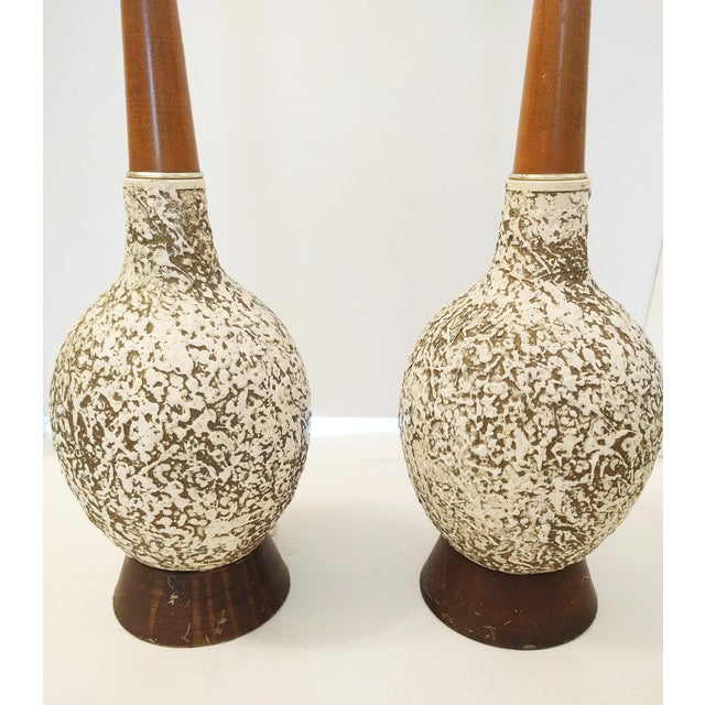 Vintage Textured Orb Table Lamps - A Pair - Image 3 of 4
