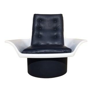 1970s Futorian Decorian Space Age Italian Molded Plastic Lounge Chair For Sale