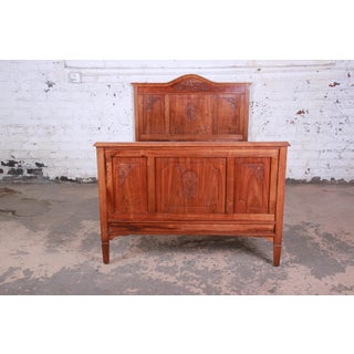 19th Century French Carved Walnut Bed Frame Preview