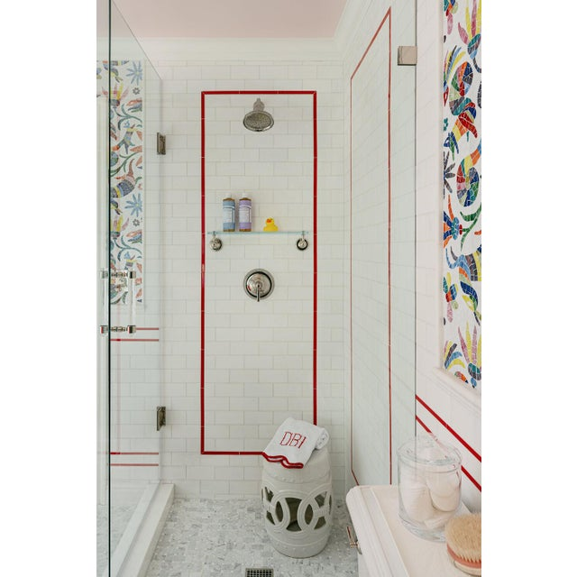 Contemporary Featured in The 2020 San Francisco Decorator Showcase — Waterworks Glass Shower Shelf For Sale - Image 3 of 4