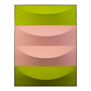 No.1-7 Green & Pink Artwork by Charlie Oscar Patterson For Sale