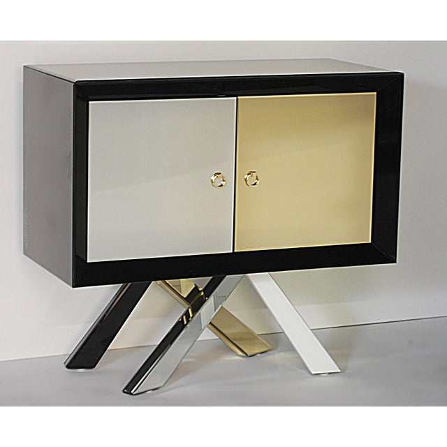Mid-Century Modern Style Mirrored Cabinet - Image 2 of 4