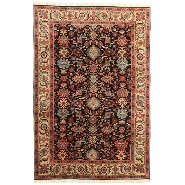 RugsinDallas Hand Knotted Wool Indian Rug - 5′11″ × 8′11″ For Sale