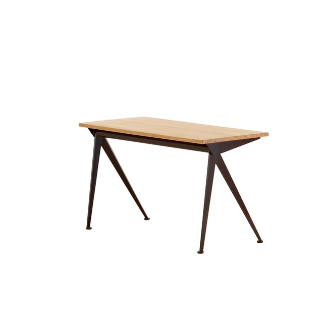 Not Yet Made - Made To Order Jean Prouvé Compas Direction Desk in Natural Oak and Black Metal for Vitra For Sale - Image 5 of 9