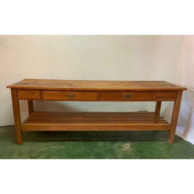 19th Century Rustic Pine Table / Sideboard For Sale - Image 13 of 13