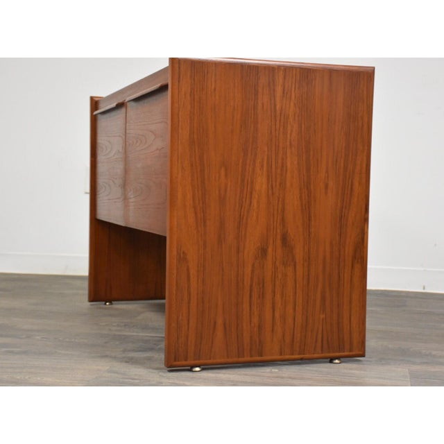 Mid-Century Modern Danish Teak MCM Filing Cabinet For Sale - Image 3 of 11