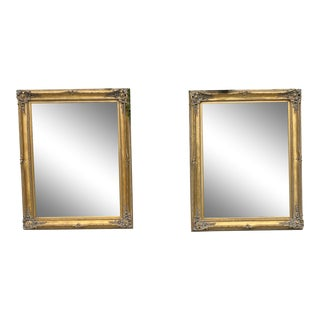 1970s Gold Mirrors - a Pair For Sale