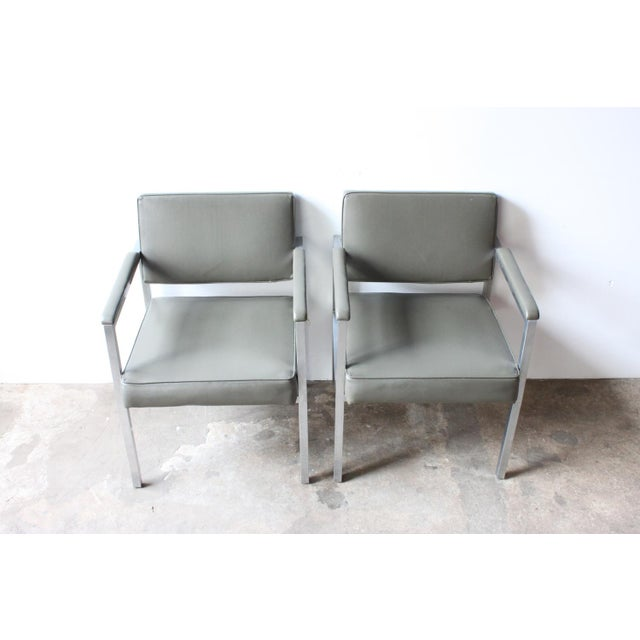 Peerless Chrome Sitting Chair - Pair - Image 3 of 4