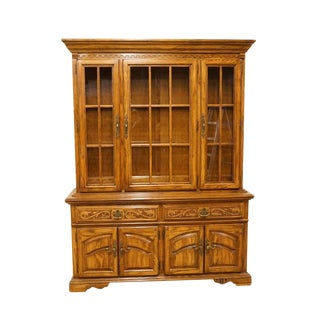 "American Drew Country French Regency 62"" Lighted China Cabinet For Sale"
