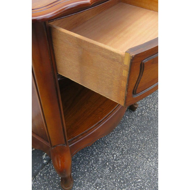 French Cherry Nightstands Side End Tables - a Pair For Sale - Image 4 of 13