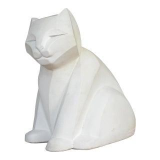 Austin Productions Karin Swildens Art Deco Cubist Cat Sculpture For Sale