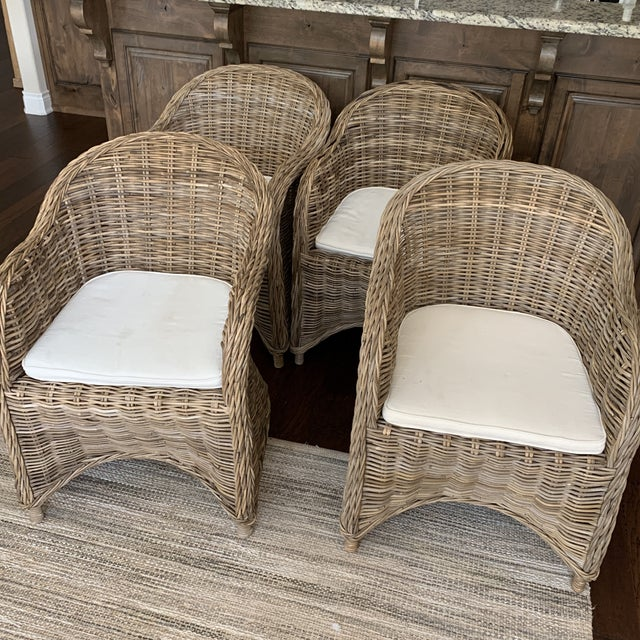 Rattan Valencia Dining Chairs - Set of 4 For Sale - Image 9 of 12
